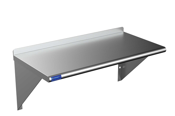 Stainless steel is our future: commercial kitchen wall shelving